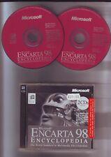 MICROSOFT ENCARTA 98 - PC INTERACTIVE MULTIMEDIA ENCYCLOPEDIA - JC EDITION - VGC