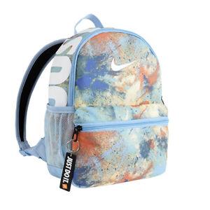 Nike Brasilia JDI Kids' Tie-Dye Mini Backpack Zipper Colorful Bag CU8963-436