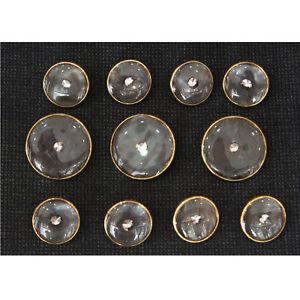 Gold Metal Blue Gray Blazer Buttons Set For Suit Sport Coat
