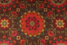 Fabric Richloom Upholstery Drapery Cynthia Espresso Basketweave Floral SS10