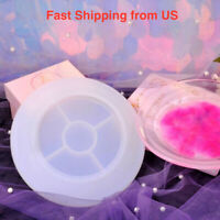New LARGE Shiny Round Plate Silicone Mold - Resin, UV Resin - Shipping from US