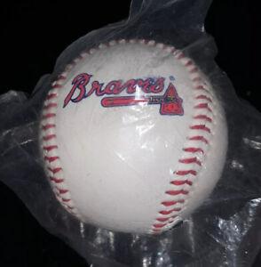 Atlanta Braves Logo MLB Baseball Ball 1993 Bagged NIP New For Autographs