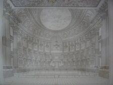 Grande gravure du Château de VERSAILLES Le théâtre