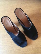 Nohilita Ladies Suede Leather Shoes In Black Size EU38