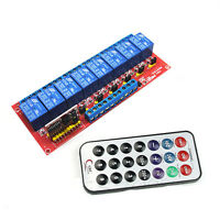 Multi-function Infrared Remote Control 8-Channel Relay Module 5V Bidirectional