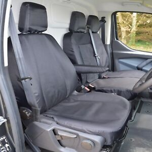 Ford Transit Custom EXTRA Heavy Duty 900d Tailored Seat Covers Black 2012-2021