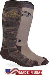 Ducks Unlimited Mens 90% Merino Wool Warm Camo Outdoor Tall Boot Sock System USA