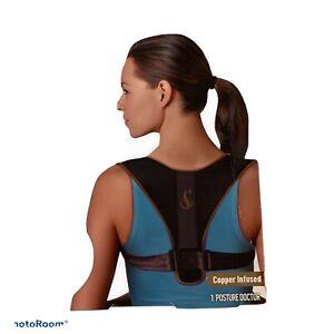 Posture Doctor Copper Infused Posture Corrector Neck Back Shoulder Strain Relief
