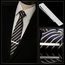 Men Stainless Steel Tone Simple Necktie Tie Clasp Clip Clamp Pin Gifts Silver M