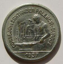 CONSEJO DE SANTANDER , PALENCIA Y BURGOS , 50 CENTIMOS DE 1937