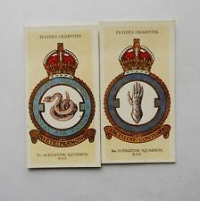 2 JOHN PLAYER CIGARETTE CARDS R.A.F. BADGES
