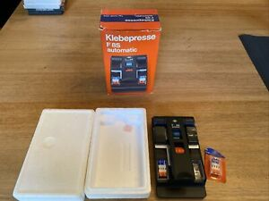 VINTAGE AGFA KLEBEPRESSE F8S AUTOMATIC 8MM FILM SPLICER BOXED