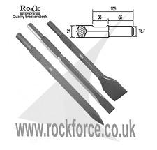 Set of 3 breaker steels for Kango K900 /950 - Point, Chisel & 50mm Wide Chisel