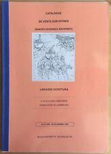 SCRIPTURA Catalogue de vente BD TL n&s 150 ex. 20 décembre 1999 Très bon état