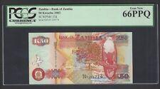 Zambia 50 Kwacha 2001 P37d Uncirculated Graded 66