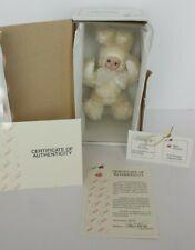 New Marie Osmond Snowball Bit O Bunny Porcelain Doll Coa #2665 + Bonus Gift