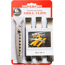4pk Bull Stainless Steel Grill Clips, Easy Grilling Veggies For Parties, BBQ