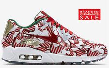 BNIB New Women Nike Nike Air Max 90 Red Gold White Christmas Ribbon Size 6