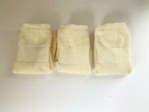 $42 RALPH LAUREN WESCOTT 4 BUTTERCUP COTTON WASHCLOTH TOWELS
