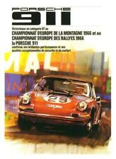Porsche *POSTER* 1966 911 race car - AMAZING ART PRINT French Rally Car