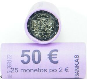 Rolle 2 Euro Gedenkmünzen Litauen 2020 Aukštaitija