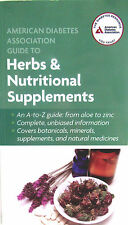 American Diabetes Association Guide to Herbs and Nutritional Supplements paperba