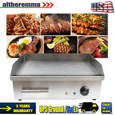 Electric Griddle Flat Commercial Restaurant Grill Bbq Teppanyaki Scoop Machine