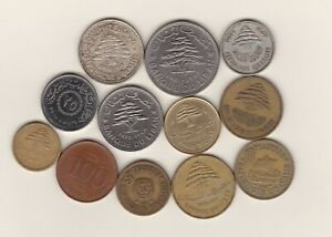 12 LEBANON COINS IN GOOD FINE OR BETTER CONDITION.