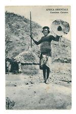 AFRICA ORIENTALE GUERRIERO CUNAMA ERITREA COLONIE D'ITALIA INDIGENI ANNI '30