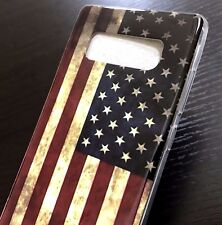 For Samsung Galaxy Note 8 - TPU RUBBER GUMMY SKIN CASE COVER USA AMERICAN FLAG