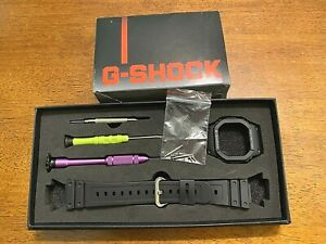 Genuine Casio Watch Band & Bezel  G-Shock GW-5600 GW5600BJ-1 Black Strap Bezel