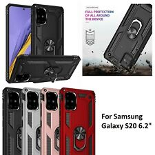 "Samsung S20 6.2"" Shockproof Military Case Cover Armor 360 Stand Ring Holder"