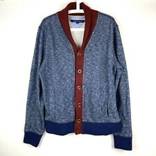 Tommy Hilfiger Mens Size Medium Shawl Neck Full Button Thick Cardigan Sweater