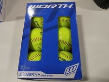 "Worth 12"" Slow Pitch Softballs - 6 Pack"