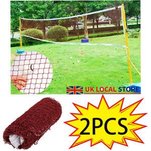 2PCS ✔Portable Standard Training Badminton Volleyball Tennis Net Garden Sports