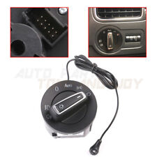 Chrome Glossy -AUTO Headlight Switch +Light Sensor For VW Golf 6 /Passat /Jetta