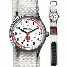 Dakota Nurse Medical White Nylon Sport Band Watch