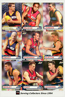2001 ESP AFL Heroes Trading Card Base Card Team Set Adelaide (9)