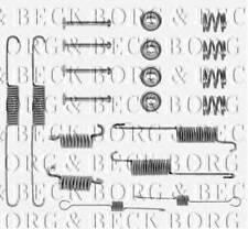 BORG & BECK BBK6024 ACCESSORY KIT FOR DISC BRAKE PADS REAR AXLE PA568053C OE QU