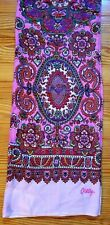 New OILILY Pink Paisley Embroidered Tube Scarf Made in India Super Soft