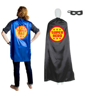 Customized and Personalized DAD SUPERHERO Cape Adult Super Hero Cape Ships Fast