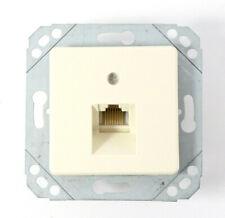 BTR Telecom UAEdesign 8(4) UPk Minikl. Telefon Dose | perlweiß | RAL1013 | NEU