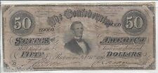 $50 Confederate States of America, Feb. 17, 1864 Series 2