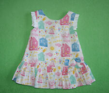 Mayoral white pink dress with house and doll for a girl 6-9 months 74cm
