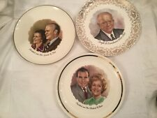 3 Collector President's Plate-Eisenhower /Nixon/Ford