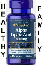 El ácido alfa lipoico 600 mg x60 Cápsulas Puritans Pride Premium 24hr Envío