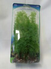 """Fish Tank Penn Plax Sinkers Aqua Plant Weighted Base 4 in Package 10"""" Tall Green"""