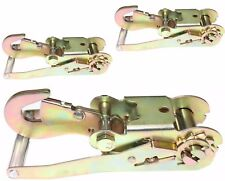 """Heavy Duty Steel Snap Hook Ratchet Tie Down - For use with up to 2"""" Webbing"""
