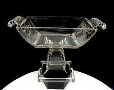 "EAPG RIVERSIDE GLASS PERSIAN SHAWL CENTER MEDALLION 6 5/8"" OPEN COMPOTE 1883"