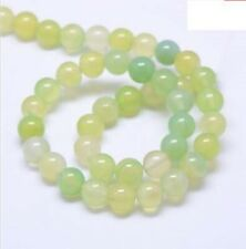 Natural green/yellow gemstone beads (n.56) 20pcs x 8mm